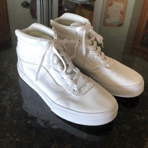 Vans All White High Tops Youth 4